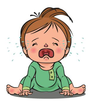 37209438 - vector cartoon colorfull crying baby isolated background