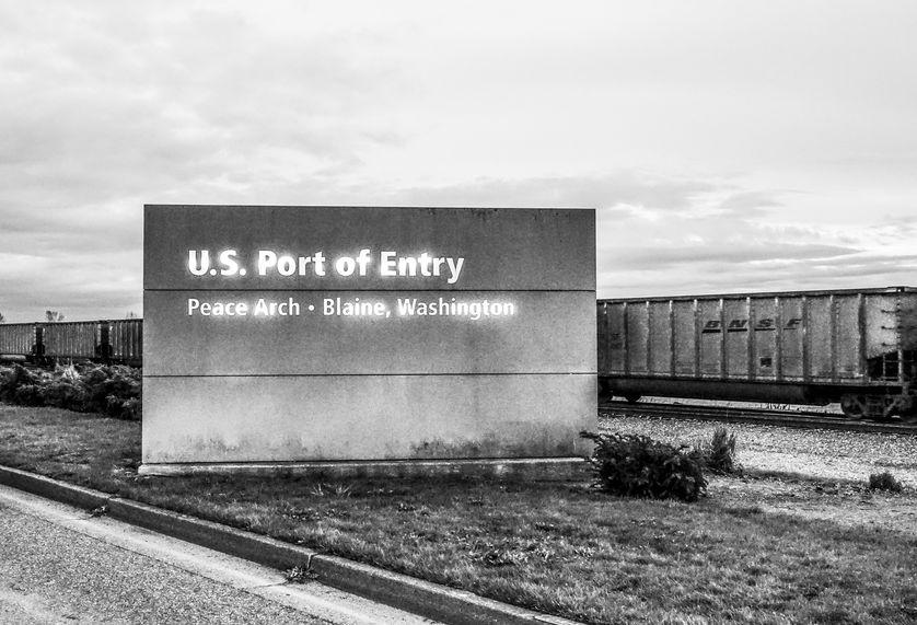 US Port of Entry Blaine Washington - BLAINE / WASHINGTON - APRIL 13, 2017